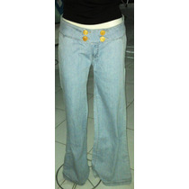 Pantalón De Mezclilla Con Botones Sexy Y Cómodo