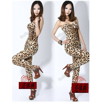 Moda Fiesta Sexy Body Strapless Animal Print Leopardo