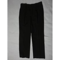 Pantalon De Vestir Color Negro Diseñador Talla 32 Hombre Ele