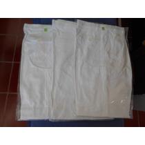 Pantalon Blanco En Gabardina Algodon 100% Varios Modelos