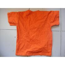 Camiseta Talla Ch Para Niño Marca Tessh Kids Color Naranja