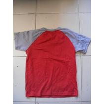 Camiseta Talla Ch Para Niño Marca Disney Color Gris/roja