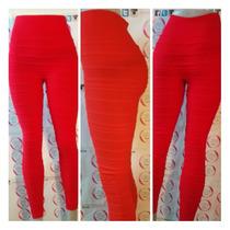 Leggins Mallones Mallas Rojo Red Rojos Algodón K&m Trends