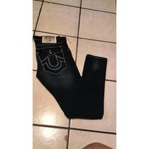 Pantalon-jeans Marca True Religion Talla-30 Skinny