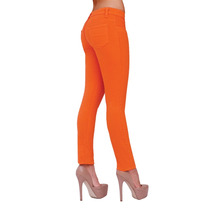Pantalon Skinny Stretch Rumbo Color Naranja