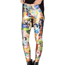 Leggings De Estampado De Disney - Blanca Nieves Pastel Goth