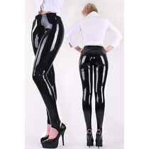 Leggins Latex Pvc Brillosos Pantalones Ajustados Fdp