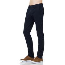 Pantalon Gabardina Slim Azul Marino Chino