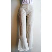 Pantalón De Mezclilla Dama Marca Weekend Talla 7 Color Hueso