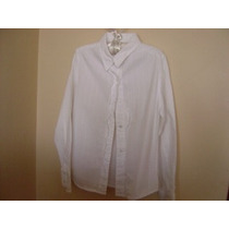 Blusa Manga Larga Blanca Cherokee Talla S 6/6x