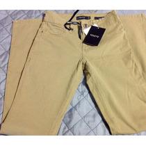Pantalón Jeans Foleys Casual Skiny Camel Caqui