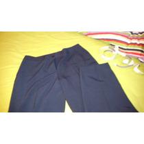 Pantalón Azul Marino Vestir, 26 Largo Del Tiro Hasta Abajo