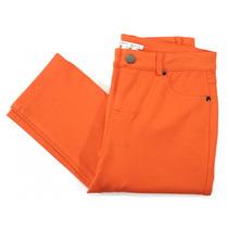 Jeans Rectos Color Naranja Tempo Paris