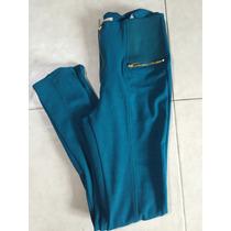 Pantalón Leggings Algodón M Azul Jade Resorte Estilo Zafa