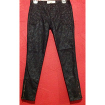 Jeans Casual C& A Negro Animal Print Skinny Fiesta Entubado.