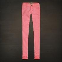 Pantalones Hollister Co. Jegging Pink Magenta T-30 Nuevo,sho