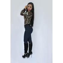 Pantalon Colombiano Jeans Levanta Pompa Corte Faja Push Up 7