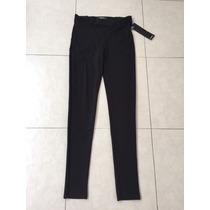 Pantalón Negro Leggings Cintura Alta Studio F Talla 14