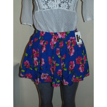 Faldas Hollister Co. T-m Floral Nueva Orig. Shorts,blusas