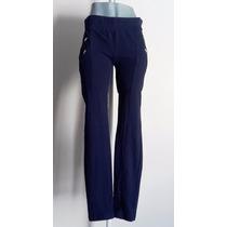 Pantalon Entubado Azul Marino Stretch Moda Recto Grande O L