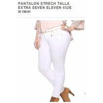 Jeans Pantalon Talla Extra Pretina Ancha Corte Recto 452