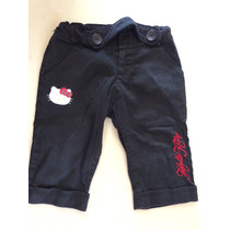 Pantalón Capri Hello Kitty Talla 4 Con Ajuste En La Cibtura