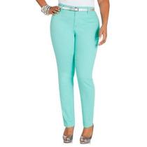 Lindo Jeans De Colores, Aqua Y Naranja Talla Extras Xl Xxl