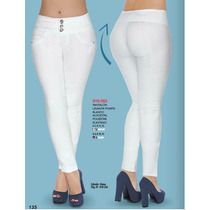 Pantalon Colombiano Blanco Sexy A La Moda Casuales Fashion