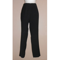 Juansilk! Pantalón Negro, Básico, De Vestir, Talla 10