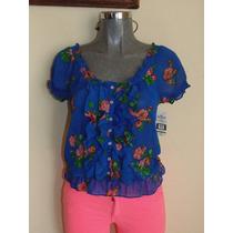 Blusas Hollister Co. S-m Floral Orig. Shorts,faldas,vestidos