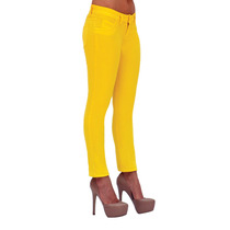 Pantalon Skinny Stretch Rumbo Color Amarillo