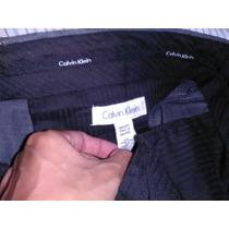 Pantalón Calvin Klein 38 X 32 60% Lana 40% Poliéster