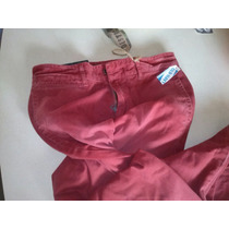 Pantalon Color Ladrillo Talla 28-30