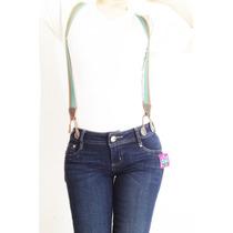 Jeans Corte Colombiano Con Tirantes Elásticos. Levanta Pompa