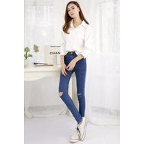 Suku 60621 Jeans Ajustados Y Entubados Moda Japón $619