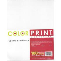 Paquete De Hojas De Opalina Con 100 Pzs
