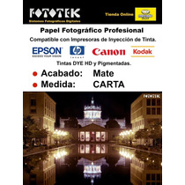 Papel Fotográfico Profesional Carta Mate 50 Hojas