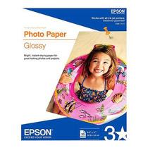 Papel Epson Glossy Photo Tamaño Carta 20 Hojas +c+