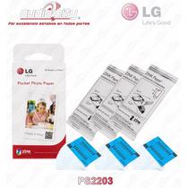 Papel Fotográfico Lg Ps2203 P/impresora Pocket Photo Pd233