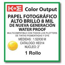 Papel Fotografico 1.52x30 Mts. N2 Ke014 Kronaline Hp, Encad,