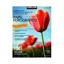 Papel Fotografico Kirkland 150 Hojas