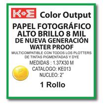 Papel Fotografico 1.37x30 Mts. N2 Ke013 Kronaline Hp, Encad,