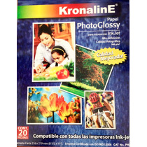 Papel Inkjet Photoglossy Tamaño Carta 20hj Ph347