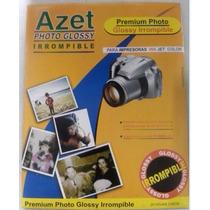 Papel Azet Glossy P/inkjet Color Paq 20 Premium Irrompible