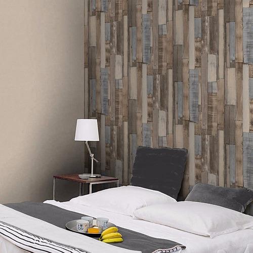 Papel tapiz madera vintage en mercadolibre for Papel tapiz para paredes modernos
