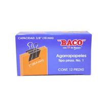 Sujetadocumentos 25.4mm De Ancho Grosor 10mm Bac-suj-agpi1