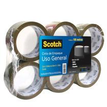 Pack Cinta Canela Adhesiva Empaque Embalaje Scotch 3m