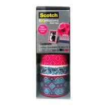 Cinta Adhesiva Washi Diseños Colores 10 M C/u Scotch 3m