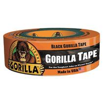 Cinta Para Ductos 1.88 Negro Tela Gorilla Tape
