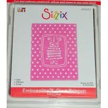 Scrapbook Sizzix Bigz Extra Big Suaje Embosslits De Pastel
